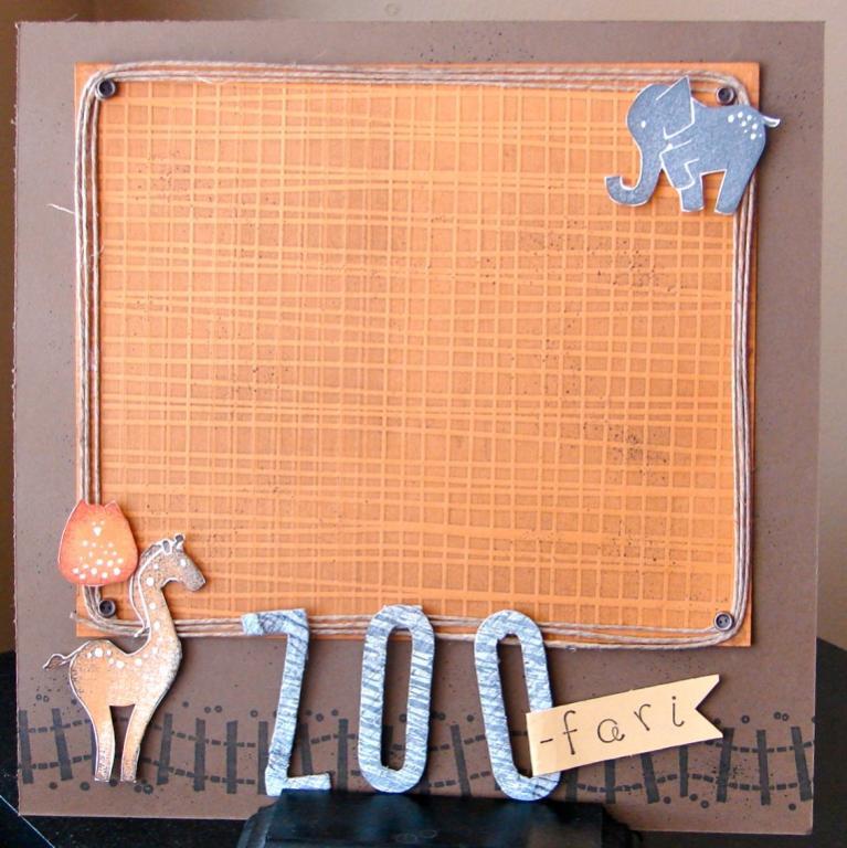 Zoo scrapbook technique