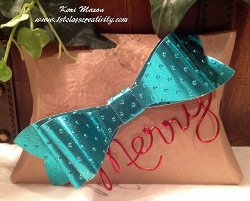 DIY Gift Packages with the Gift Bow Bigz L Die makes Holiday Gift Giving Easy
