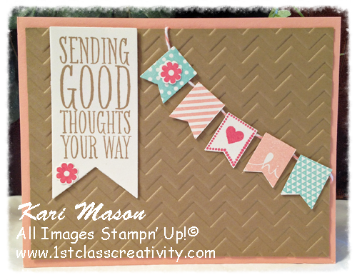 How to create a DIY Handmade card using banners
