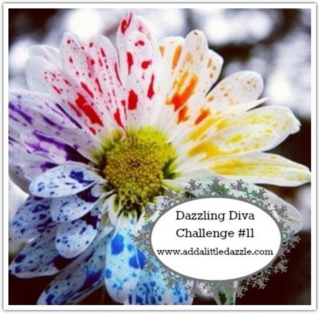 Water Coloring with Embossing Pastes - Dazzling Diva Challenge 11
