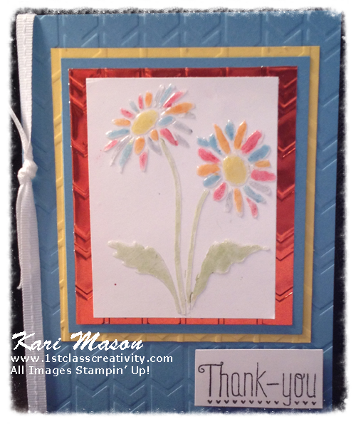 Water Color Effect with Embossing Pastes - Dazzling Diva Challenge 11