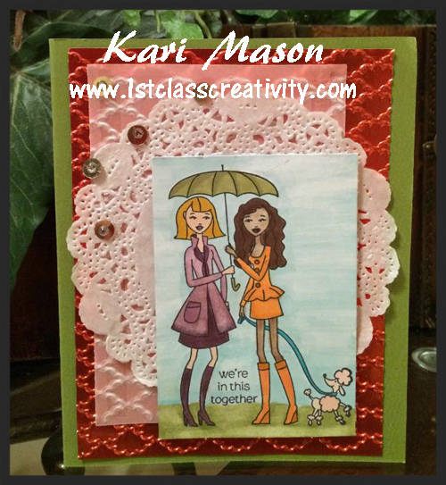 Card Making Ideas Using Vellum - visit www.1stclasscreativity.com