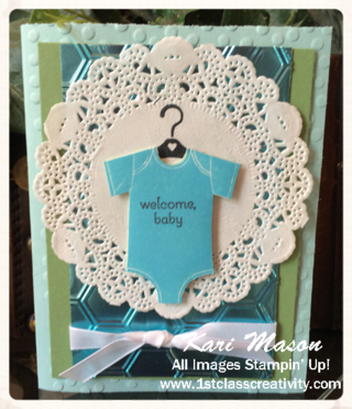 New Baby Card - visit www.1stclasscreativity.com