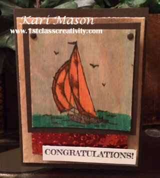 DIY Congratulations Card - visit www.1stclasscreativity,com