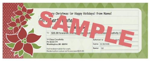 $25 gift sample www.1stclasscreativity.com