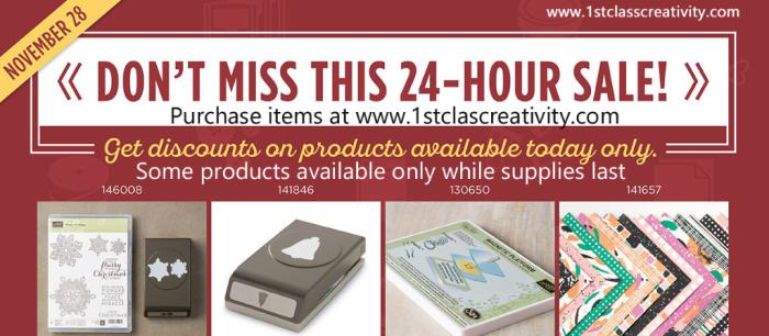 Stampin' Up! Flash Sale www.1stclasscreativity.com