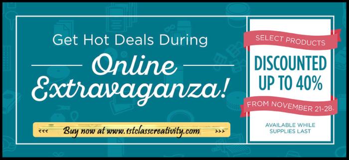 Online Extravaganza www.1stclasscreativity.com