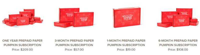 Paper pumpkin photo subscription options